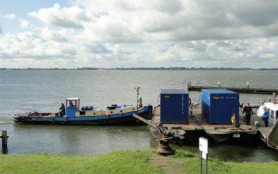 Various materials handling and transport for event Pampus Muiden